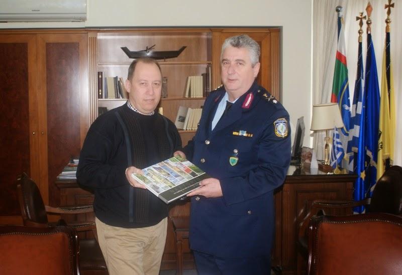 Επίσκεψη του νέου Γενικού Περιφερειακού Αστυνομικού Διευθυντή  στον  Αντιπεριφερειάρχη Καστοριάς  Σωτήρη Αδαμόπουλο