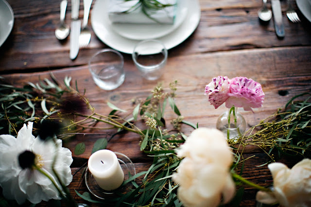 Earth Day natural table centerpieces