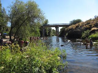 Piscina Natural de La Abadía, río Ambroz