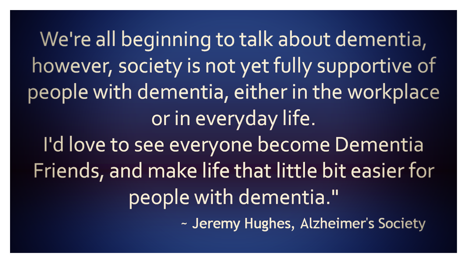 Sing Along - The Dementia Friends Song