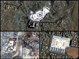 foto mekah madinah, gambar makkah dan madinah dari luar angkasa