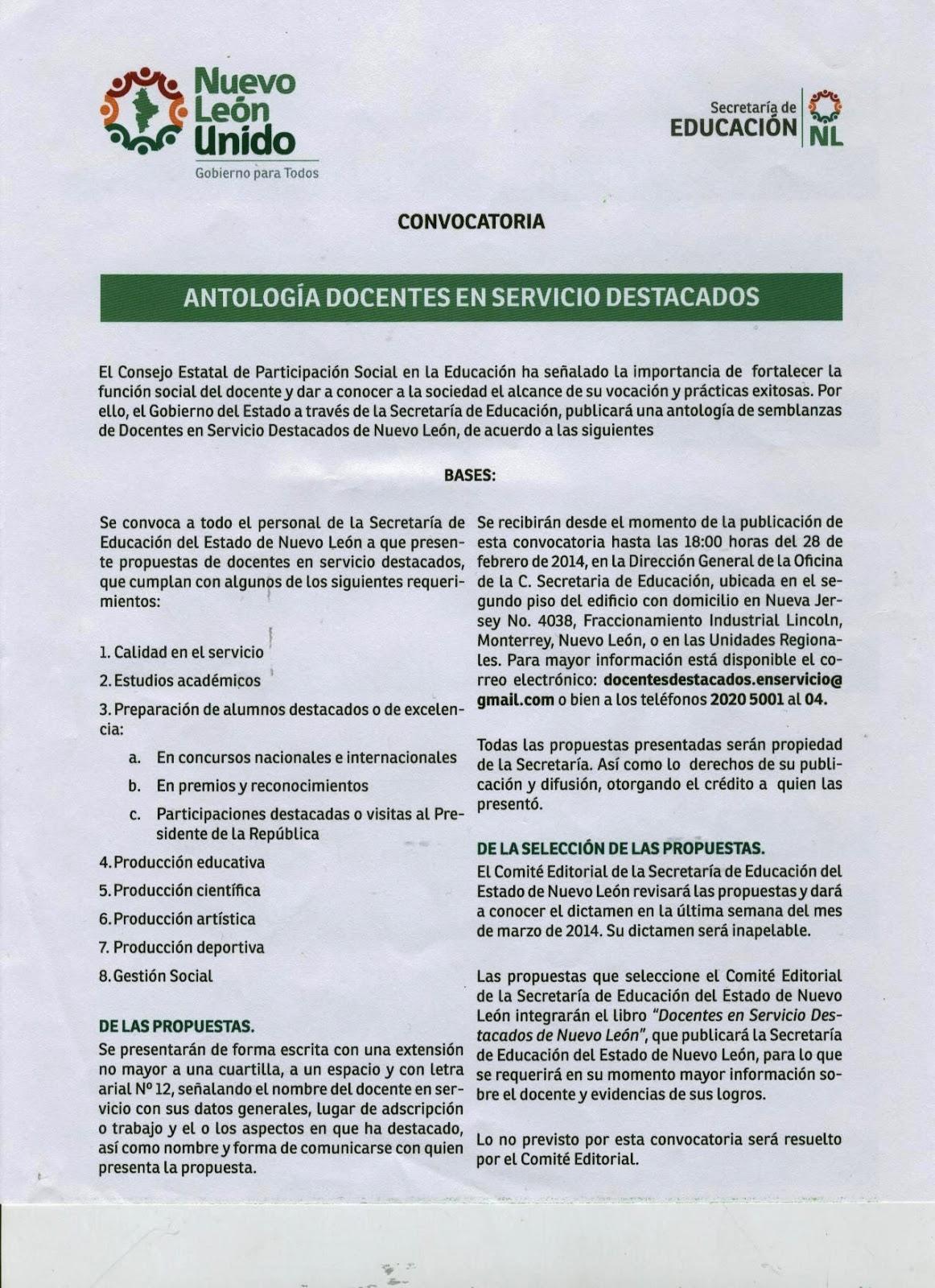 Centro de maestros 1908 montemorelos nuevo le n for Convocatoria de maestros