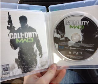 MW3 case and disc