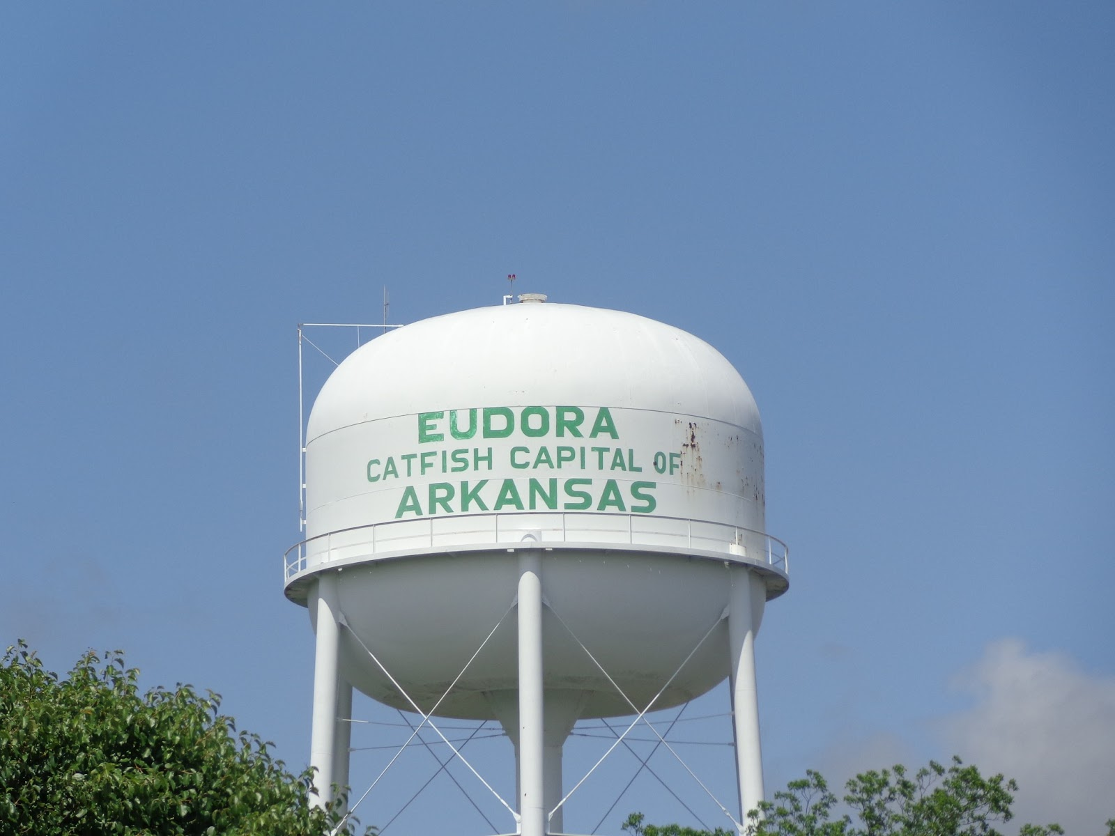we rode out of eudora the catfish capital of arkansas the road we planned to ride a secondary paved road according to the map does not exist