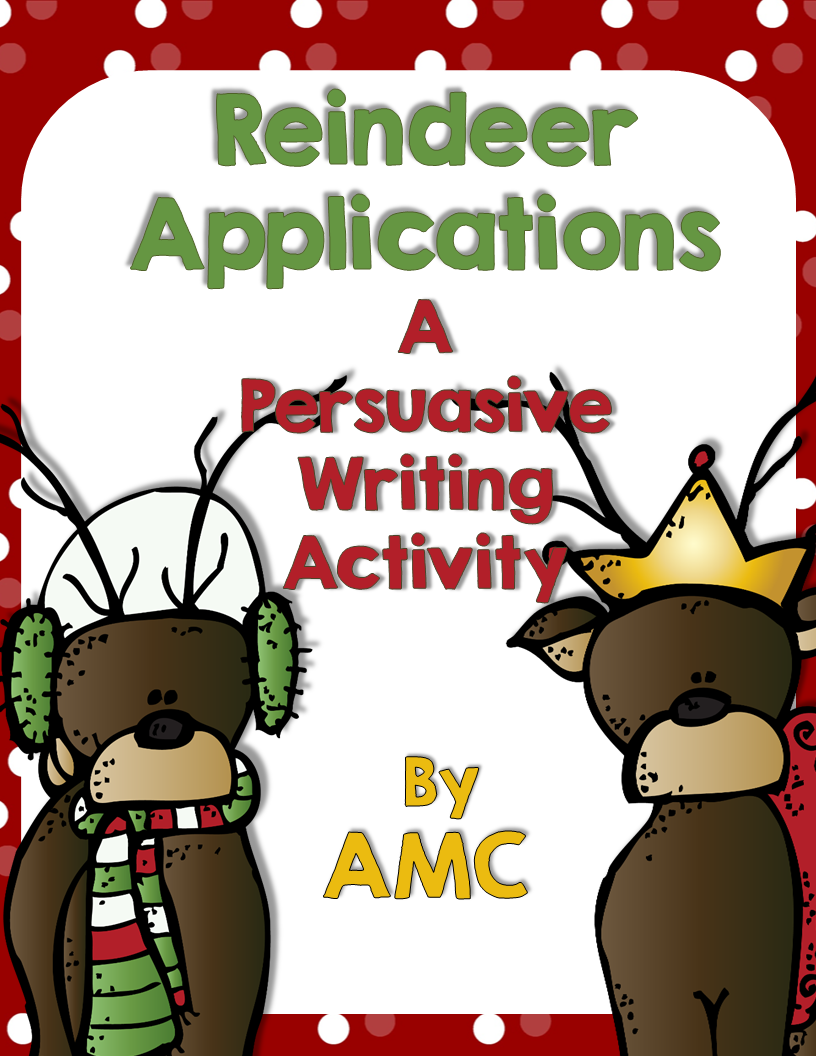 http://www.teacherspayteachers.com/Product/Reindeer-Applications-A-Persuasive-Writing-Activity-1629454