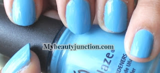 Swatch and photos of China Glaze Flyin High Nail Polish