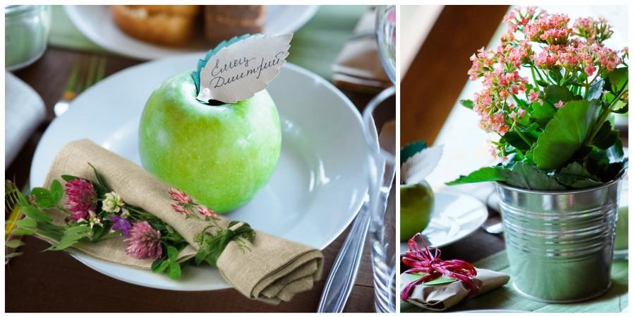 Manzanas para invitados a la boda