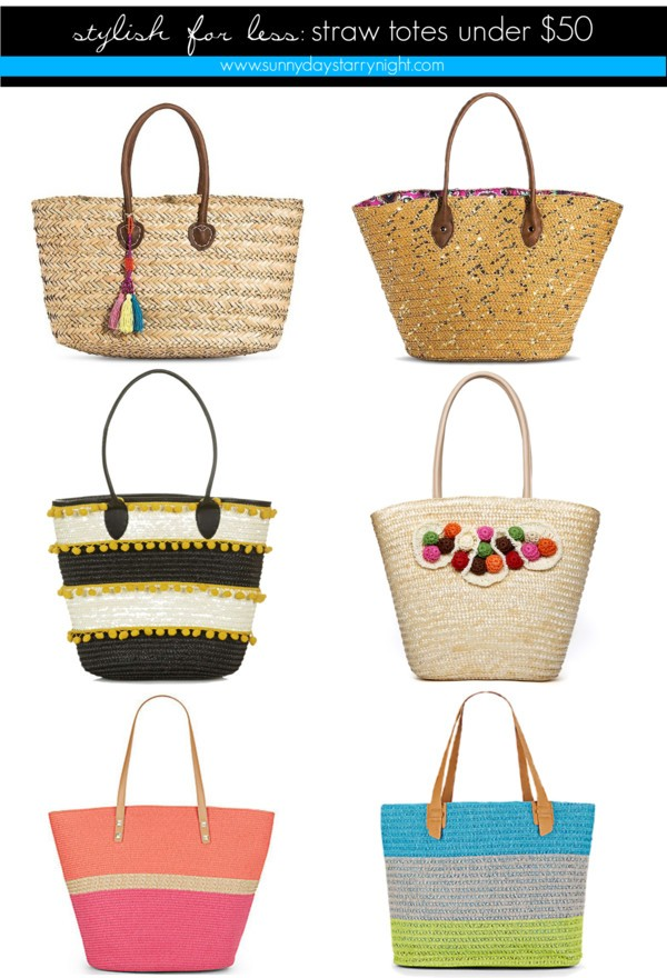 stylish for less straw totes under $50