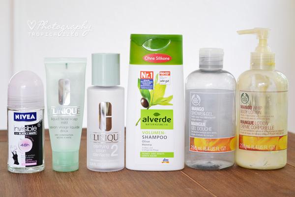 Aufgebrauchte Kosmetik im April Mai 2012