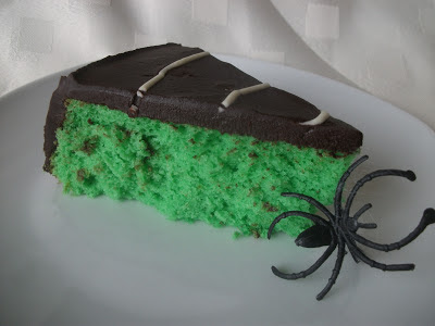 Lime and Dark Chocolate Chiffon Cake