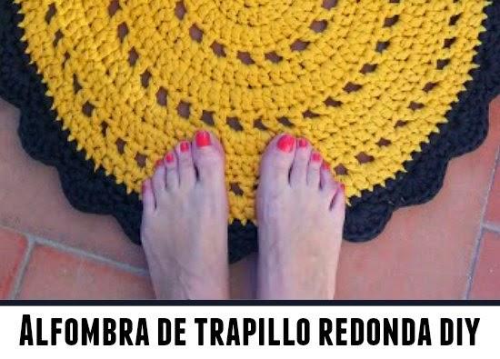 Alfombra redonda tejida con trapillo - Como hacer alfombras de trapillo redondas ...
