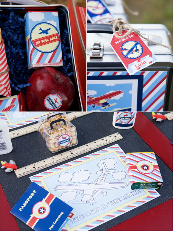 Little Aviator Airplane Inspired Birthday Party Ideas and Printables