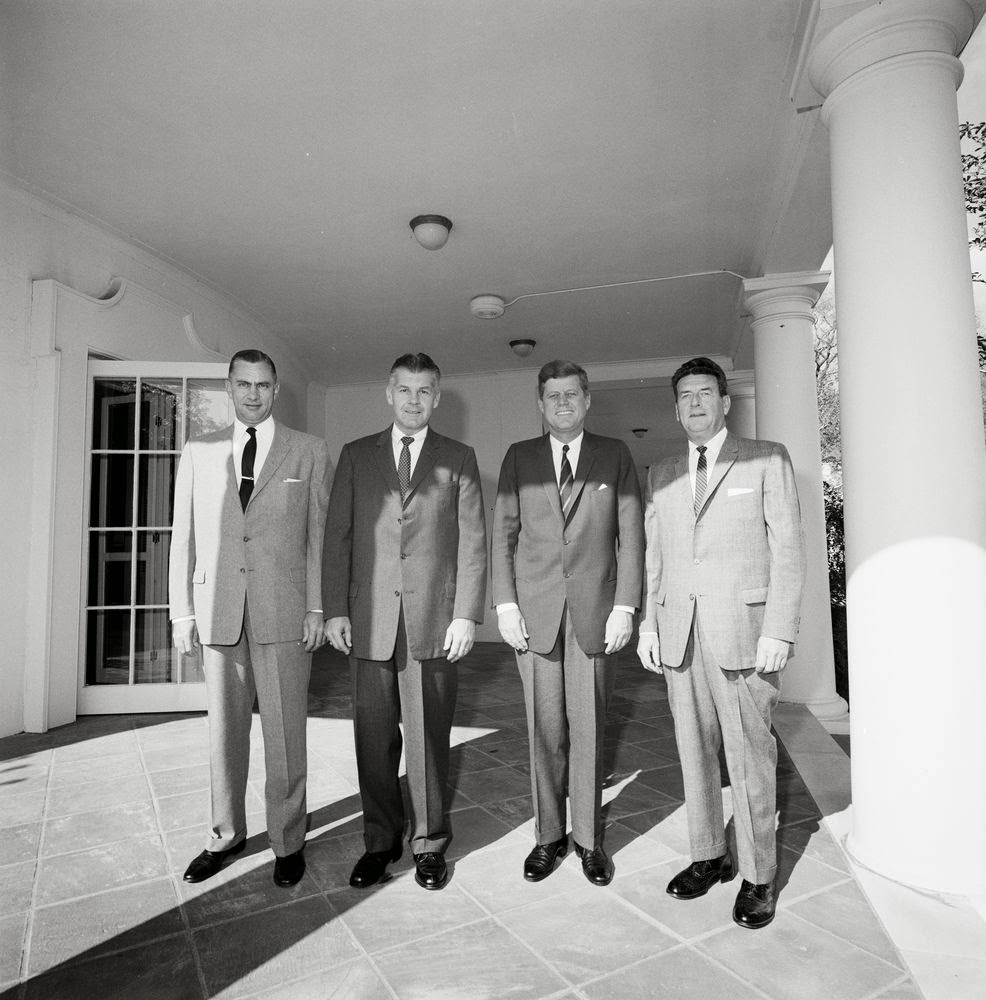 10/1/62: JFK congratulates the new ASAIC of the White House Secret Service Detail