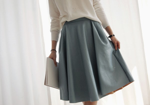 full skirt leather