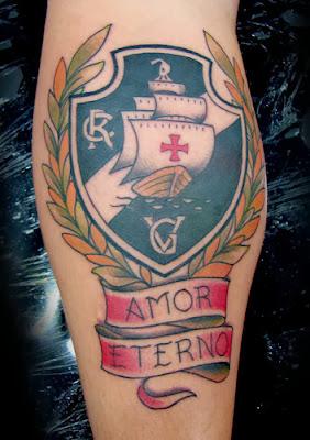 Tatuagem Escudo Vasco Gama