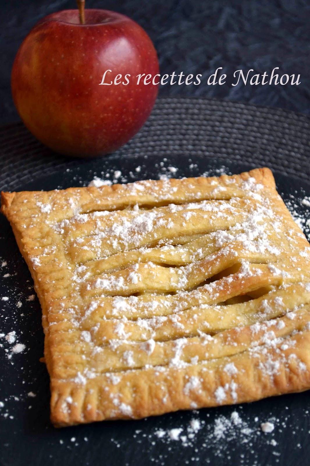 Jalousie ou feuillet aux pommes soto - Feuillete aux pommes caramelisees ...