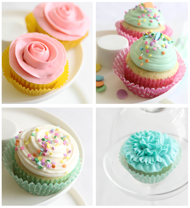 Cupcake Decorating Ideas Butter Icing : Easy Piping Techniques for Cupcakes Sprinkle Bakes
