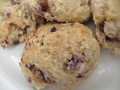Fresh Cherry Buttermilk Scones