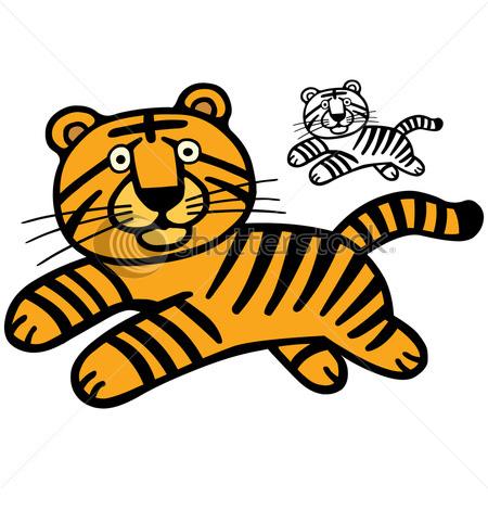 Kids Cartoon Tiger Wallpaper