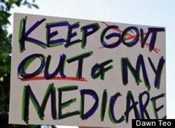 Sign - 'Keep Govt Out of My Medicare'