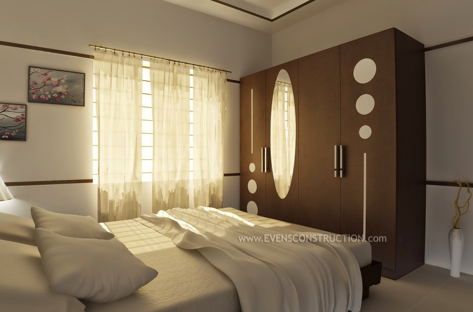 Simple And Cute Bedroom Kerala Interior Design