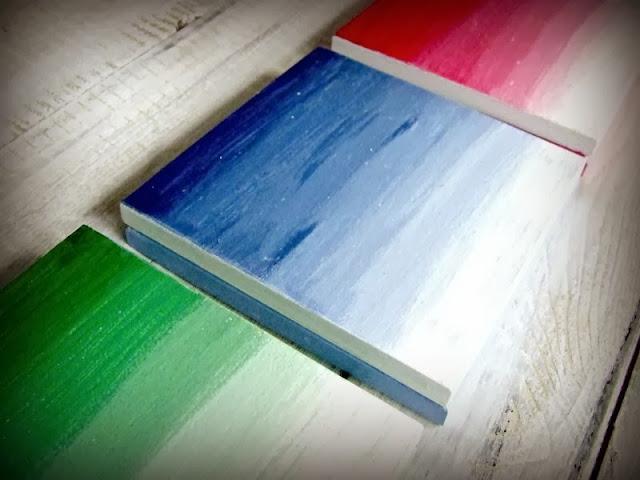 Kolorowe pudełka ombre hand made by Eco Manufaktura