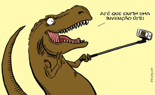tiranossauro rex pau de selfie