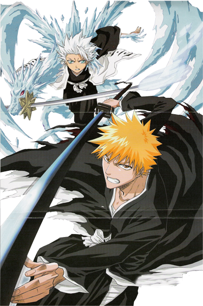 In Bleach Two Of The Most Badass Characters Would Have To Be Ichigo Kurosaki And Captain Toshiro Hitsugaya I Mean Theres A Lot