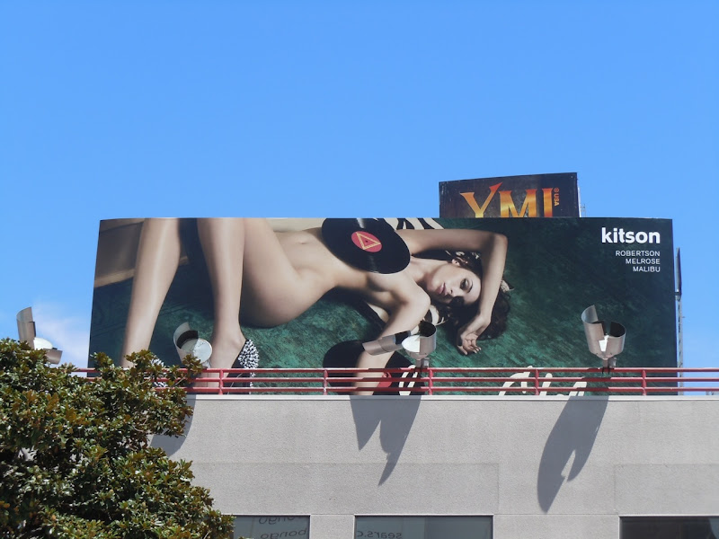 Sam Edelman naked model record billboard