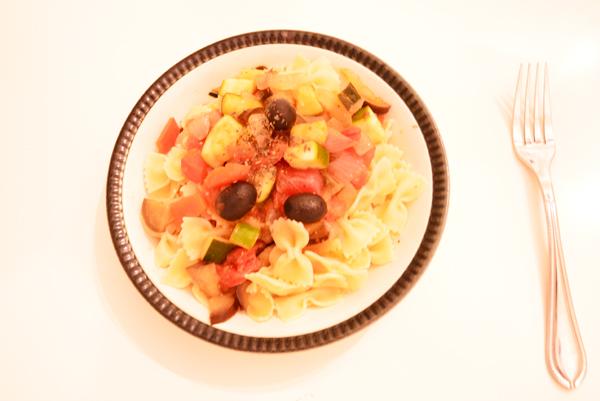 Mediterranean Ratatouille Pasta