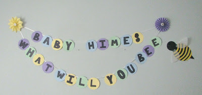 What Will You Bee? Gender Neutral Baby Shower Sign Adventures of D and V