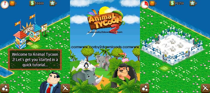 Samsung Corby II 240x320 Java Game: Animal Tycoon 2