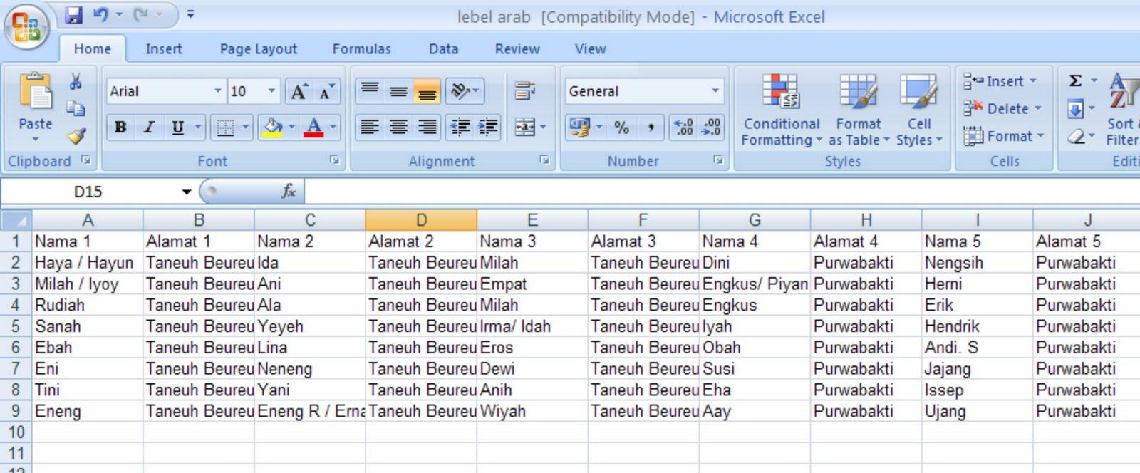 Dalam membuat format table anda diharuskan membuat secara ...