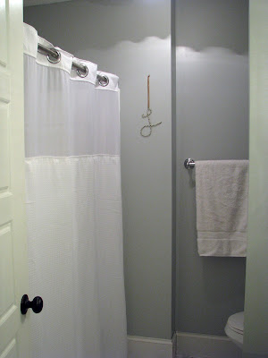Bathroom Makeover {rainonatinroof.com} #bathroom #makeover #paint #stoningtongray