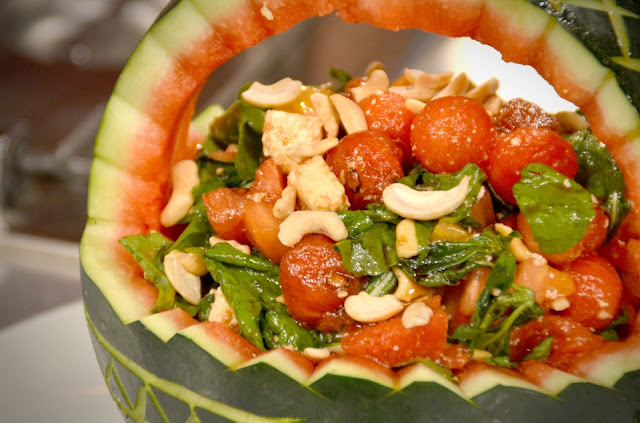 Tomato Watermelon Salad with Roasted Cashew and Kesong Puti Recipe