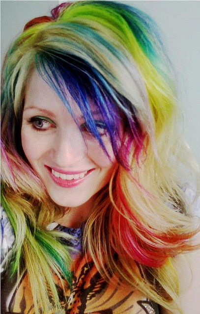 rainbow hair