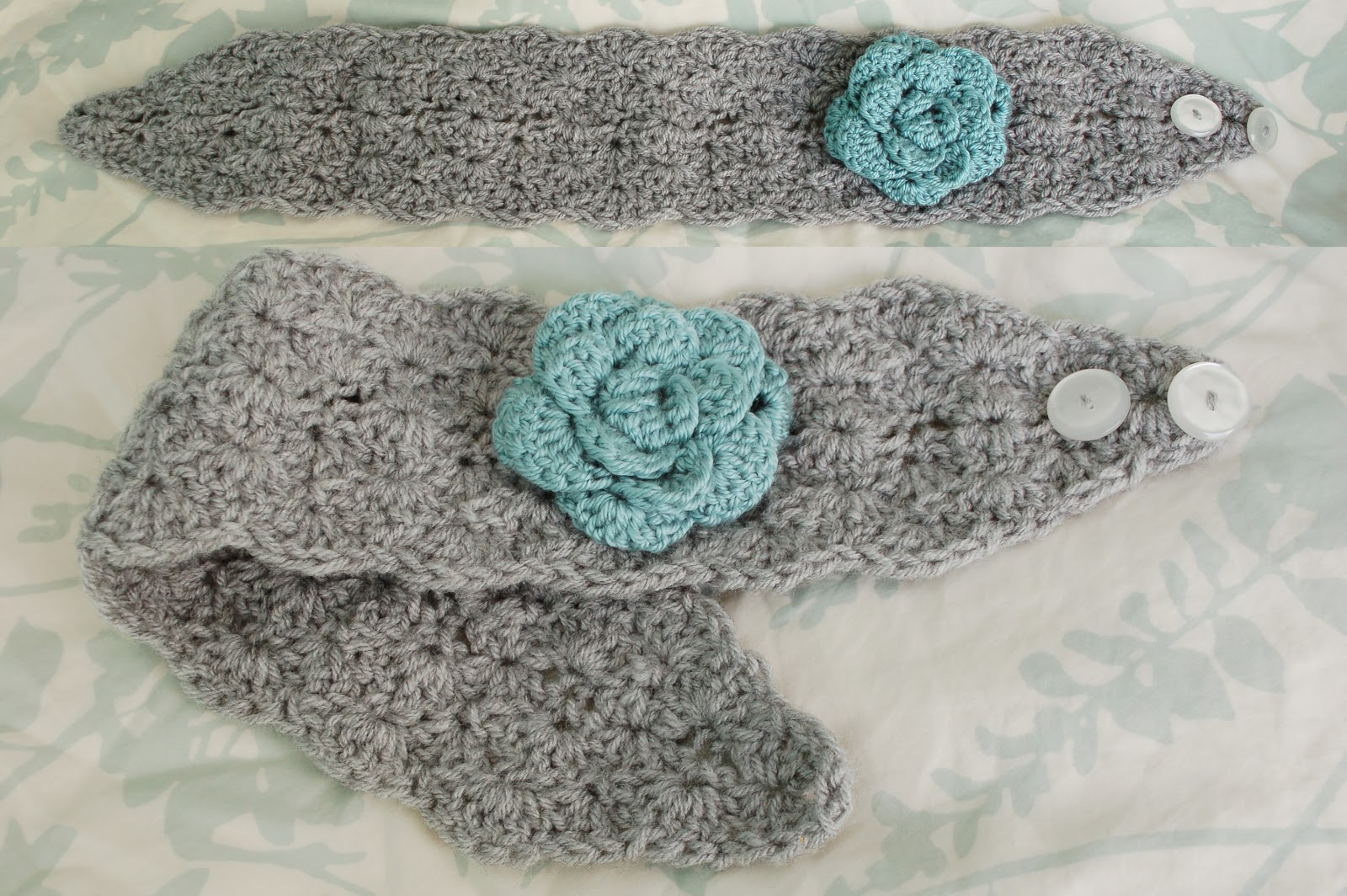 Free Crochet Pattern Headband Ear Warmer Button : Alli Crafts: Free Pattern: Lacy Shells Earwarmer - Adult