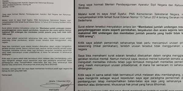 Surat Terbuka PNS Ke Menpan tembusan Presiden Jokowi