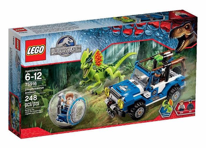 JUGUETES - LEGO Jurassic World  75916 Emboscada al dilofosaurio  Dilophosaurus Ambush  Producto Oficial Película 2015 | Piezas: 248 | Edad: 6-12 años