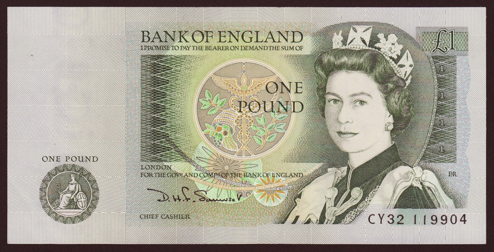 how much is a english one pound note worth