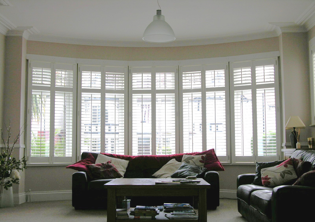 Lifestyle shutters for Bay window shades and blinds