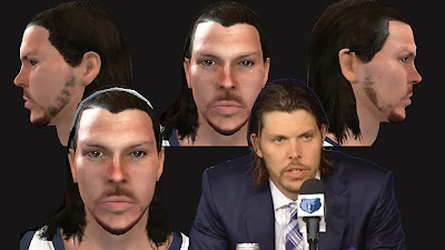 NBA 2K13 Mike Miller Cyberface (Long Hair) Mod