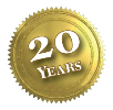 20th-anniversary seal