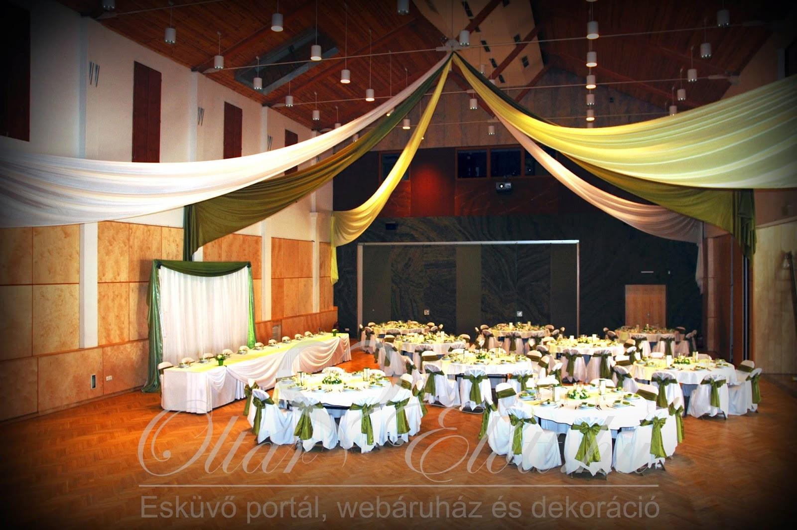 Zöld esküvő a törökbálinti művelődési házban