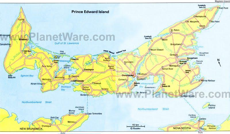 Cavendish beach pei map