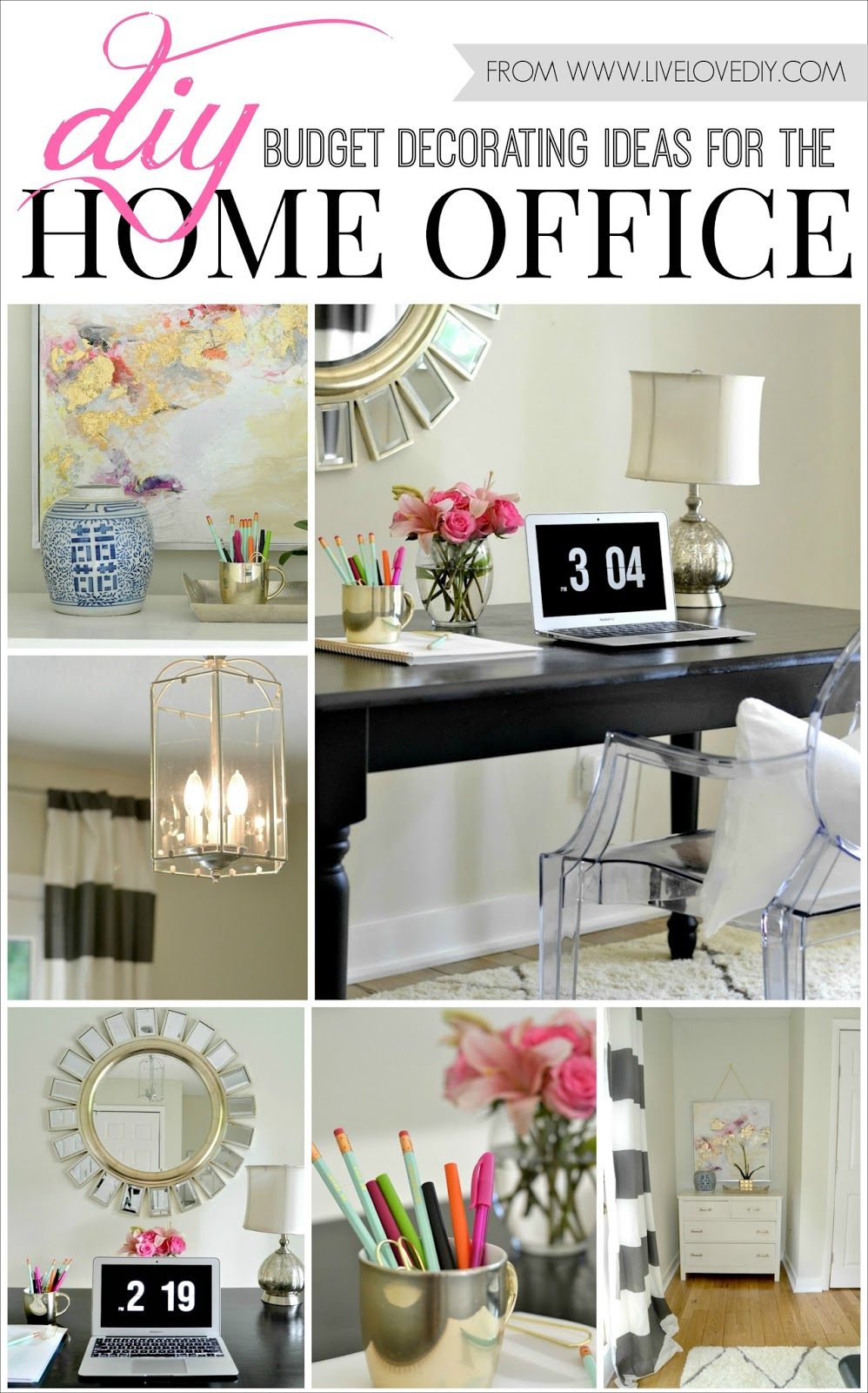 Cool 17 Exceptional DIY Home Office Decor Ideas With Tutorials