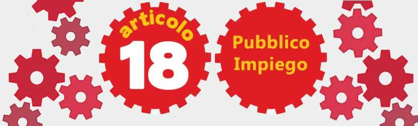 Il Pubblico Impiego e il nuovo articolo 18