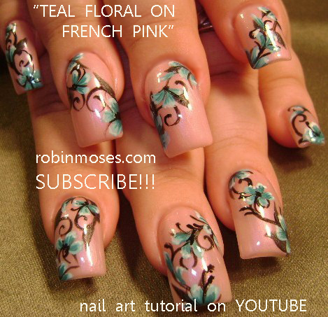 Koi Nail Art Orange Blue Bronze Nail Fish Nail Pink And Teal Wedding