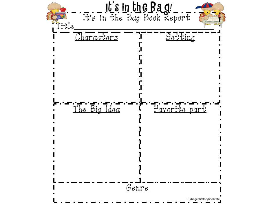 paper bag book report rubric Literary elements flip book using just a few sheets of construction paper, in this project you will label and illustrate the five literary elements of one picture book.