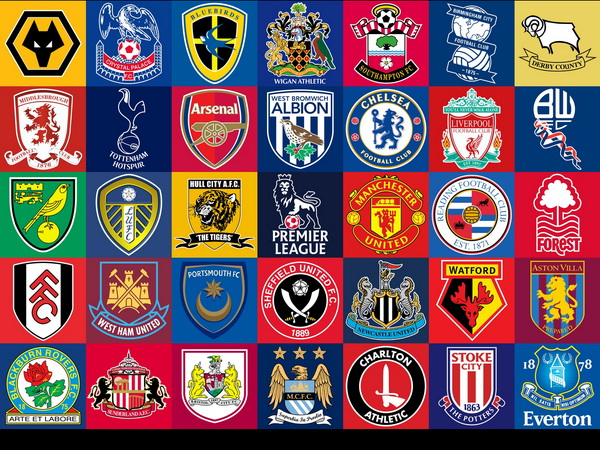 English Premier League Team Logos